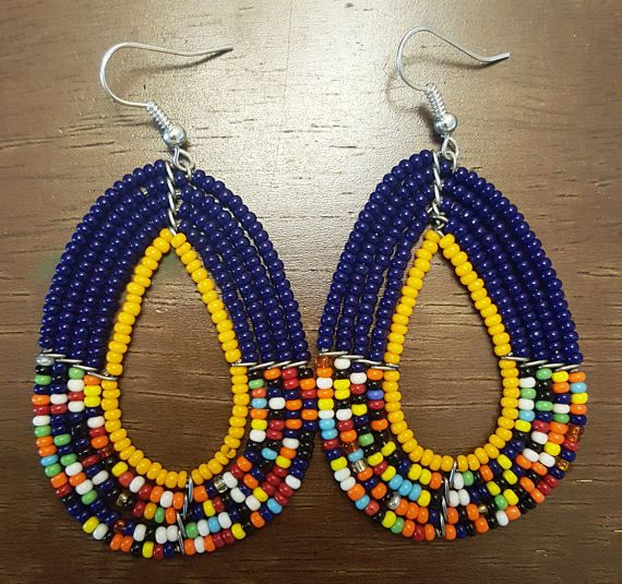 Gift items Beaded Earrings African Earrings Masaai