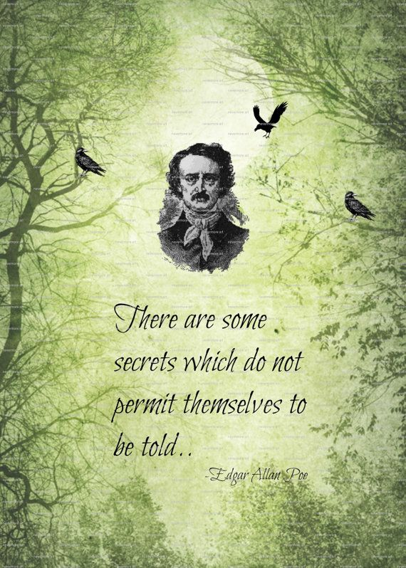 Printable Edgar Allen Poe Poem Quote Gothic by nevermorealteredart