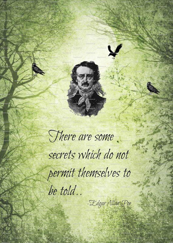 Printable Edgar Allen Poe Poem Quote Gothic by nevermorealteredart