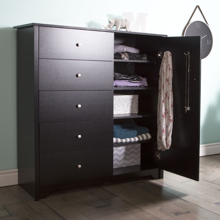 Multiple storage spaces and a minimalist style make this armoire an ideal piece you can add to your bedroom.  Combine it with the rest of the Vito collection or create an eclectic decor with your existing furniture, it?s up to you.