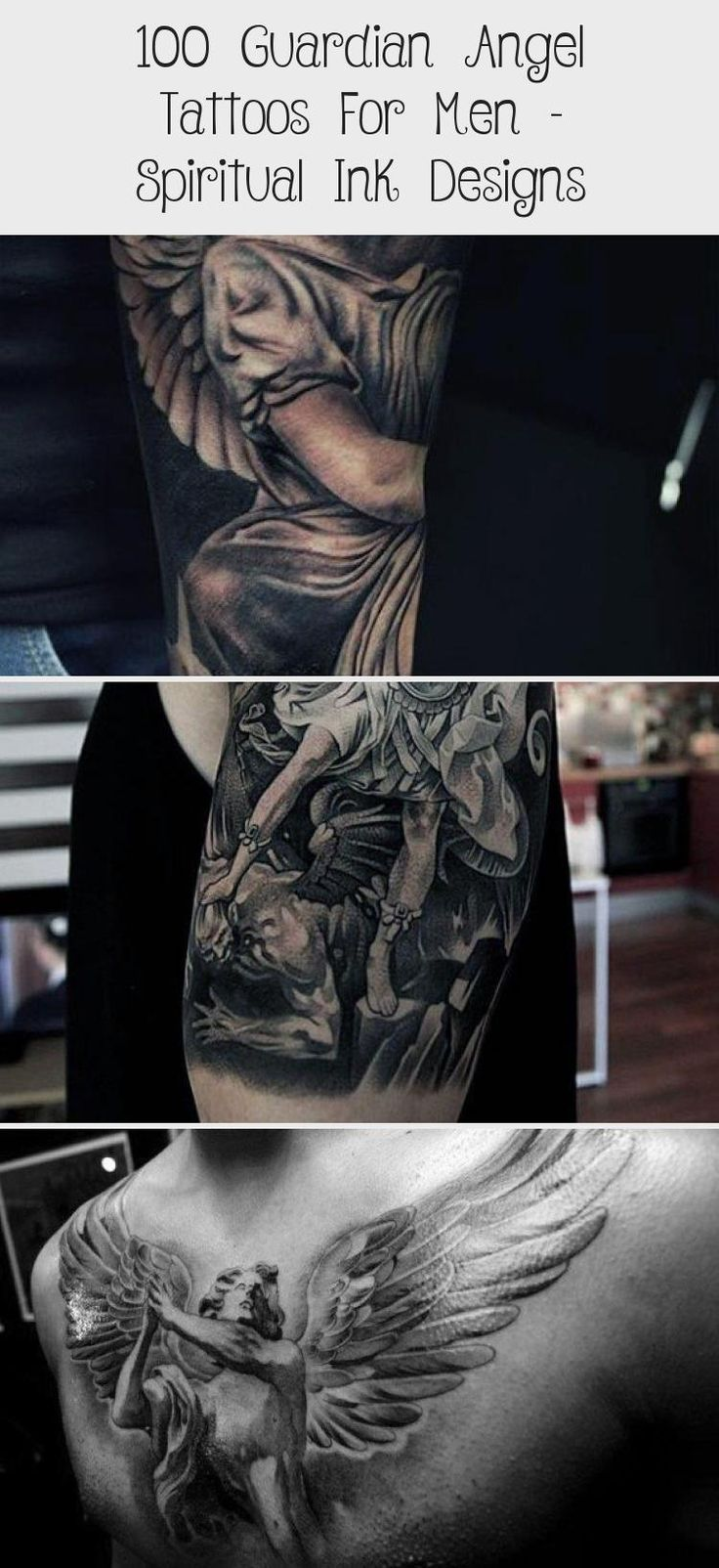 40+ Awesome Angel tattoo designs for guys ideas