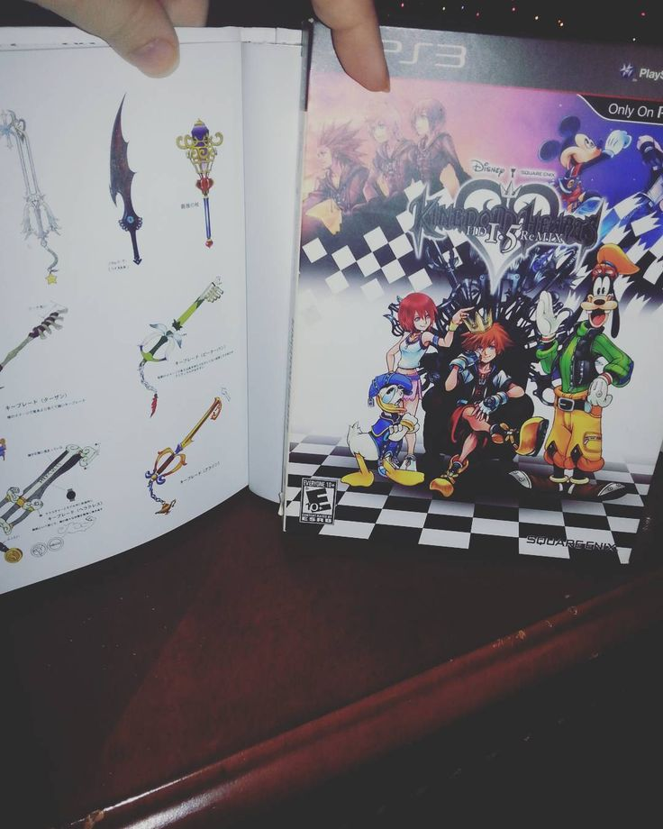 On instagram by carolinechaos  #retrogames #microhobbit (o)  Kingdom hearts box and booklet on game. I save all these cause they were pretty order and/or collector editions. Eventually rebuy the game. Just watched the trailer for kh 2.8 (: so excited for it and kh3. I still need a ps4 thou. #gamerboyfriends #kids #gamers #girlgamers #gamergirls #xbox #xboxone #ps3 #ps4 #PSP #ps2 #360 #rpgs #videogames #wiiu #Wii #dsxl #ds #gaming #Nintendo #gameboy #gamecube #sega