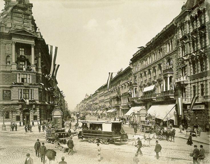 Andrássy út, Budapest in 1896