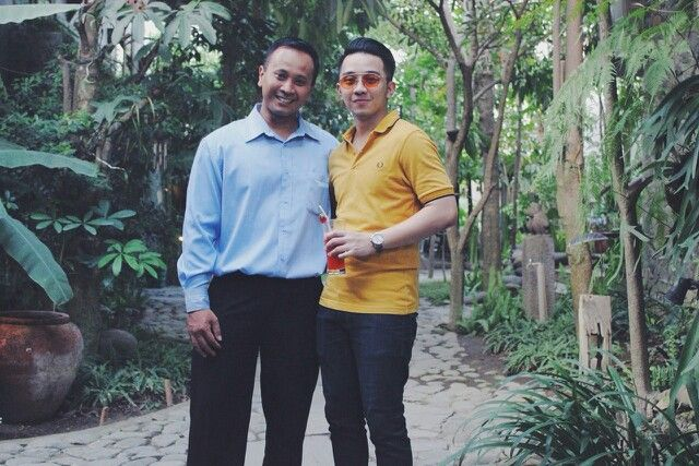 With mr. Diva in Rumah Batu garden