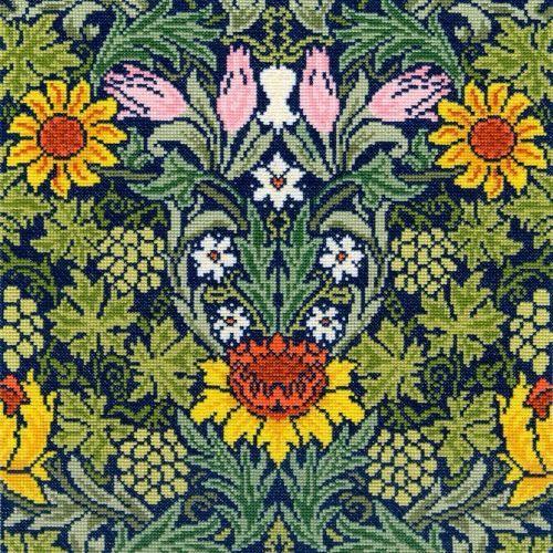 Sunflowers  (William Morris)  Cross Stitch