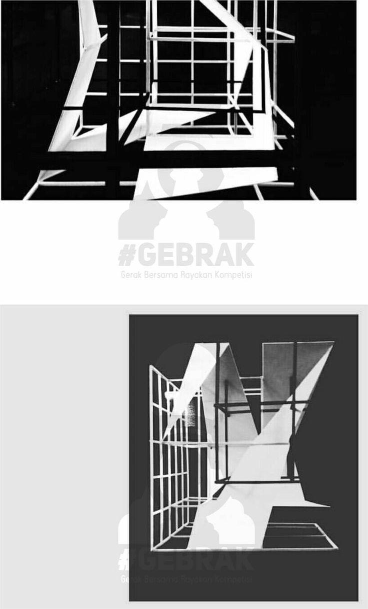 Grid Transformation 1/3_Group 4 (Peter Eissenman's House three)_Arsitektur 2014