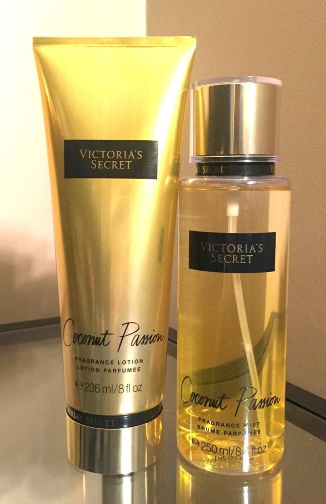 VICTORIA'S SECRET Coconut Passion Lotion & Body Mist Set **2015 Edition** #VictoriasSecret