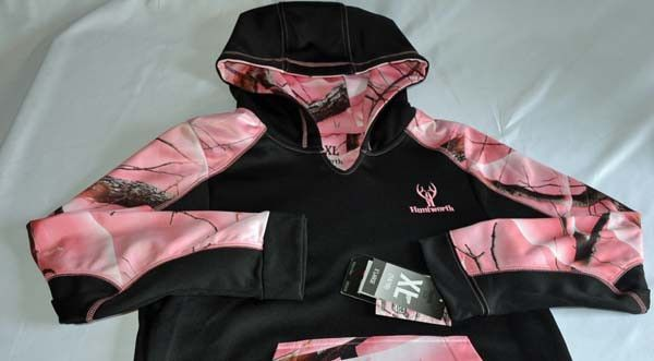 Pink Camo Hoodie Huntworth, Youth Large