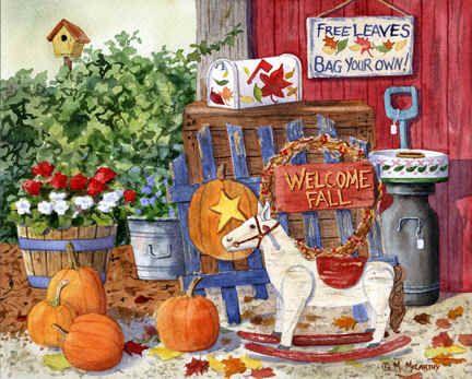 Welcome Fall by Maureen McCarthy ~ autumn