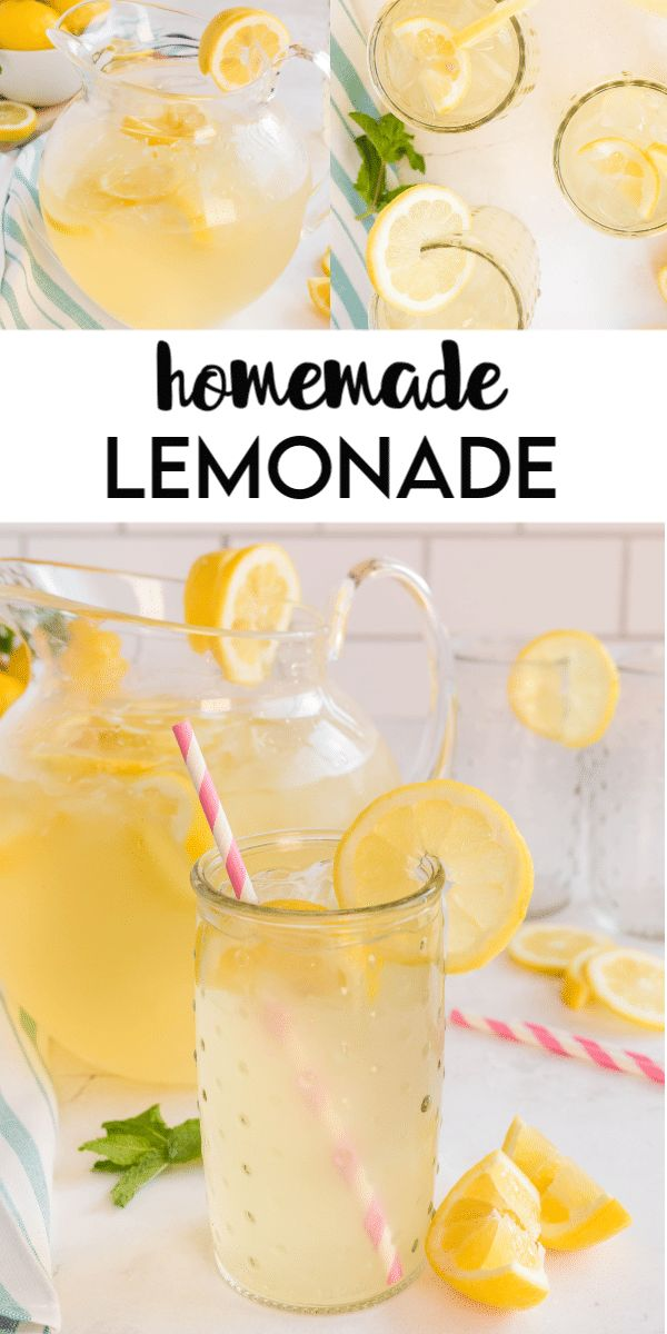 Homemade Lemonade is a refreshing summer drink recipe that is bursting with lemon flavor and sweetened to your likeness….