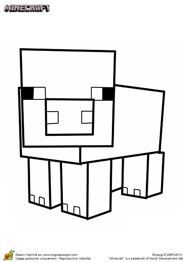 1000 images about dessin de minecraft on pinterest math facts coloring and clash of clans - Dessin cochon ...