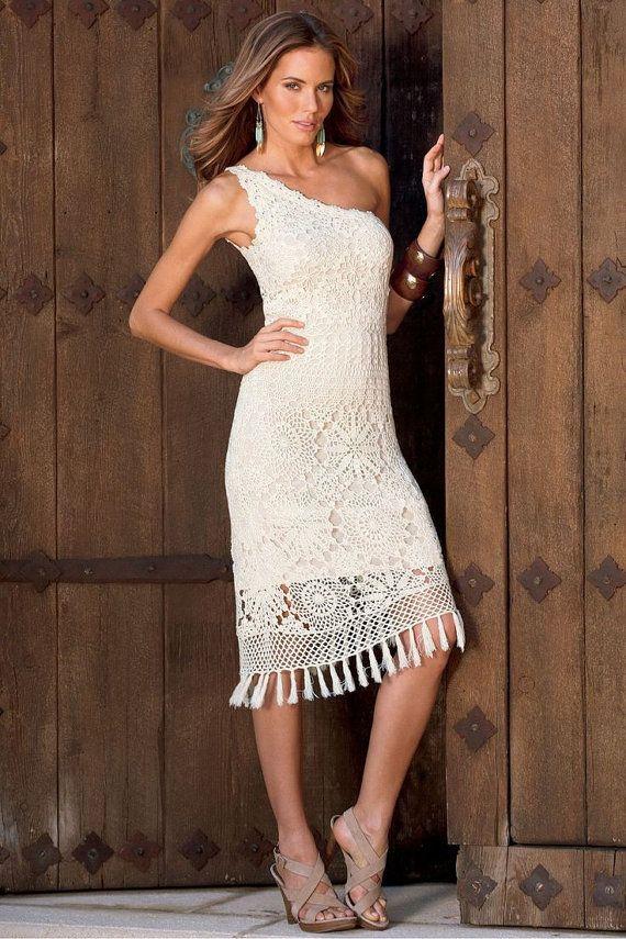Uncinetto estate elegante fatta per ordine abito di CottonMystery