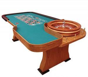 96'' Oak Customizable Roulette Table - Spinettis Gaming - 1