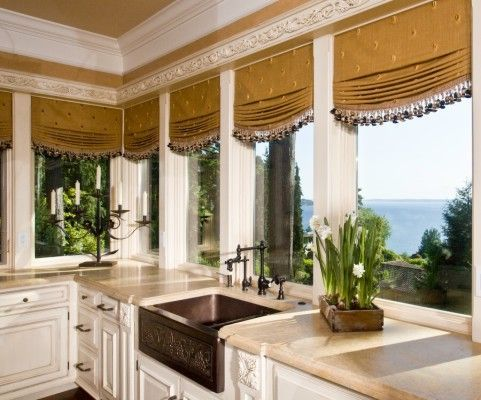17 best images about london austrian curtains on pinterest window treatments window seats and - Country kitchen windows ...