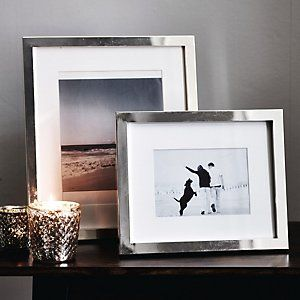 Buy Home Accessories > Photo Frames > Classic Silver Photo Frame 5x7'' from The White Company