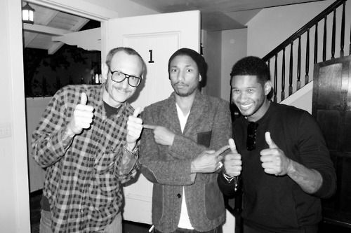 Terry Richardson, Pharrell, and Usher