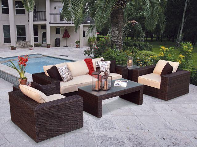 My Dream Patio Set   Royal Terrace Resin Wicker