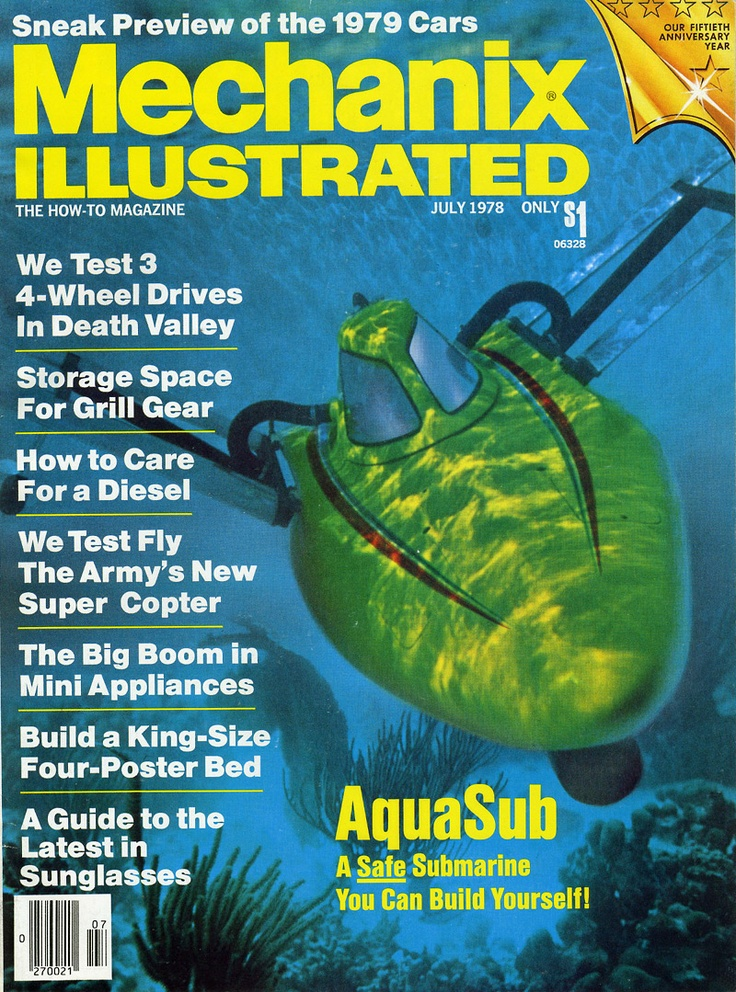 AquaSub on cover of Mechanix Illustrated Magazine