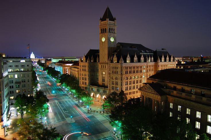 Pennsylvania Ave - Old Post Office to the Capitol at Night - Old Post Office Pavilion - Wikipedia, the free encyclopedia