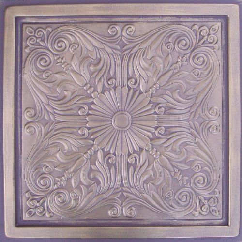 "Astana Antique Bronze Chocolate (24x24"" Pvc) Ceiling Tile by Antique Ceilings. $7.98. Easy to cut. Tin like look from a modern material. Can be painted with most any water or latex based paints. High quality PVC matterial. Universal Installation - Drop in Grid system, Glue-on, Nail-on. PVC ceiling tiles come in 24""x24"" size. Feather-light, easy to install, easy to clean, stain resistant, water resistant, dust free, and easy to cut. They can be cut with any house..."