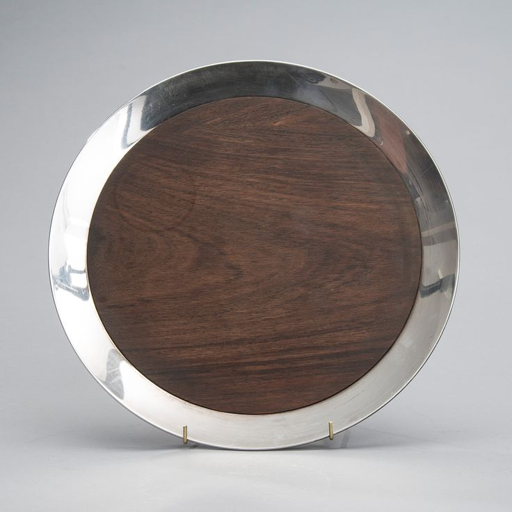 Tapio Wirkkala, wood and silver tray - used to have this with the matching coffee set.