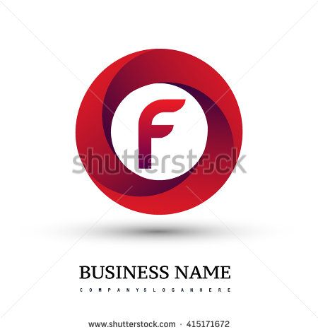 F letter logo in the red circle. Vector design template elements for your application or company identity. - stock vector