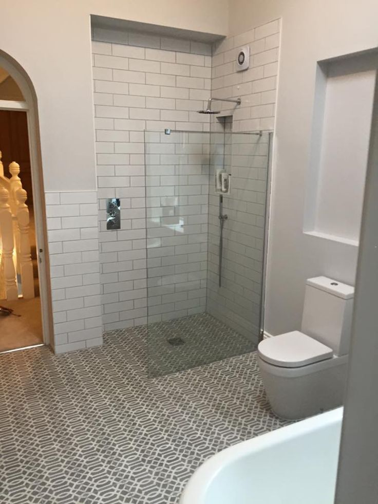 Encaustic tiles, wet room, underground tiles