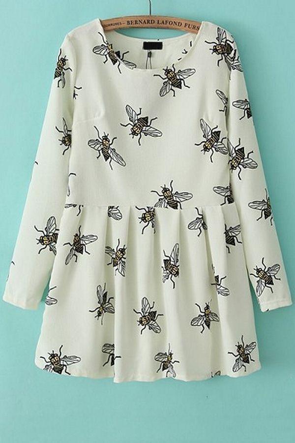Sweet Honeybee A-line Dress - OASAP.com