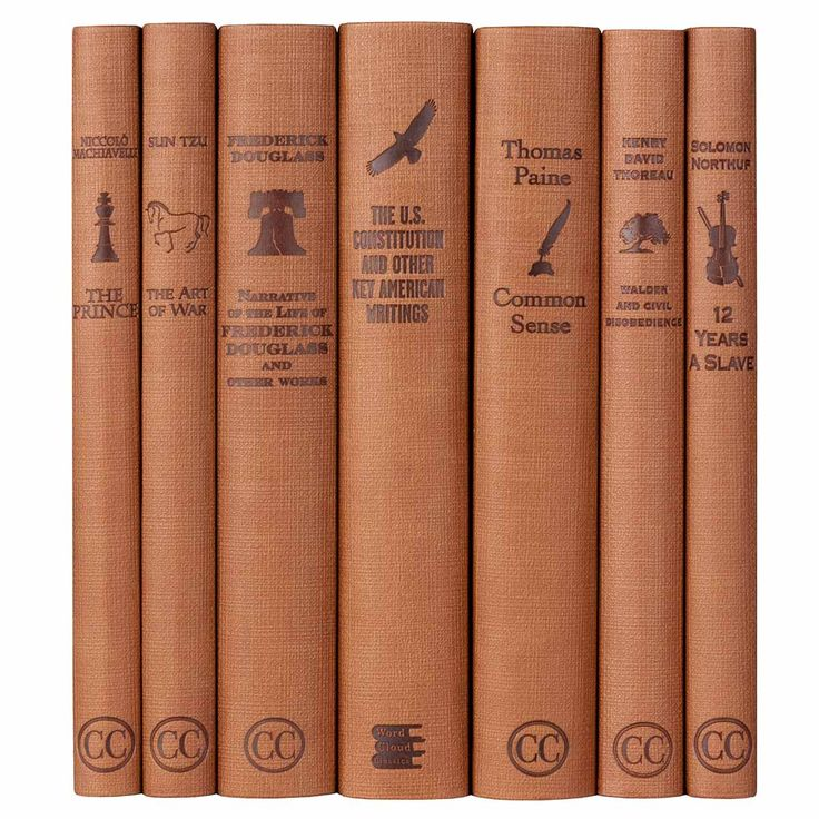 A set of seven books from the Word Cloud History series, which features important political works from Machiavelli's The Prince to Thoreau's Walden.