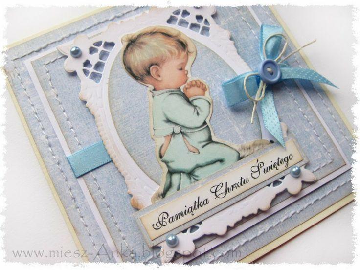 miesz-Anka wy-Tworów prze-Różnych: Dwie karteczki na chrzest ...