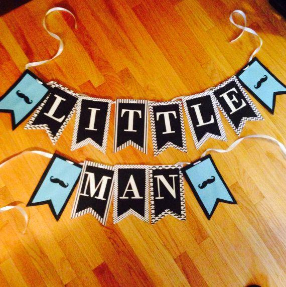 Little Man boy baby shower banner by PartyDecoByRebecca on Etsy, $32.00