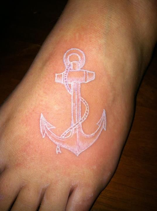 sweet white anchor tattoo idea ... thoughts? (click for meaning)