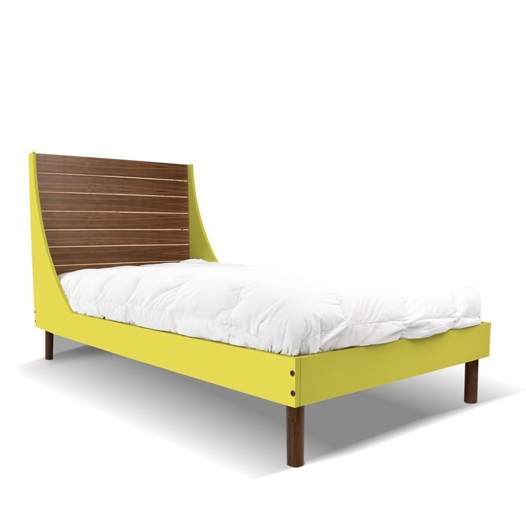Minimo twin bed minimo twin bed walnut green modern - Bedroom furniture in los angeles ...
