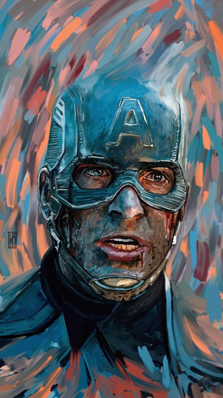 Captain America Art iPhone Wallpaper Captain america art