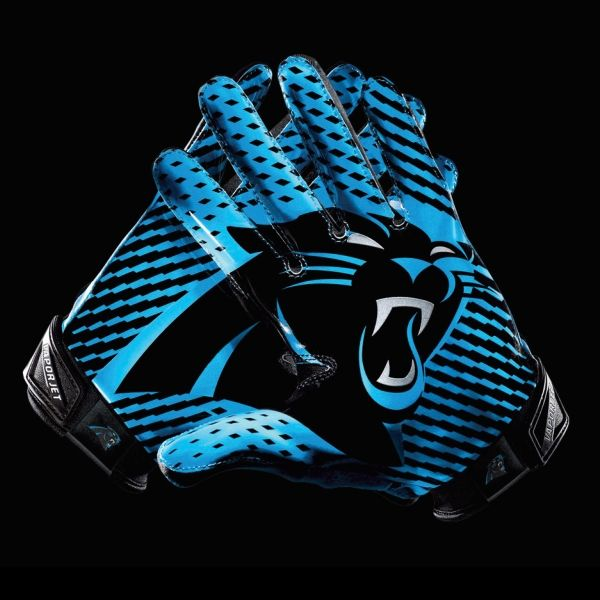 Panthers Football | Quelle: Nike) Carolina Panthers Handschuh mit Team Logo