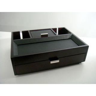 @Overstock.com - Monarch Dresser Valet - This black dresser valet keeps your items organized and easy to find. The wood and leatherette container is a great addition to any dresser, and it holds many items, from coins to jewelry and accessories, while the pull out compartments are convenient.  http://www.overstock.com/Home-Garden/Monarch-Dresser-Valet/6021925/product.html?CID=214117 JMD              11108.33