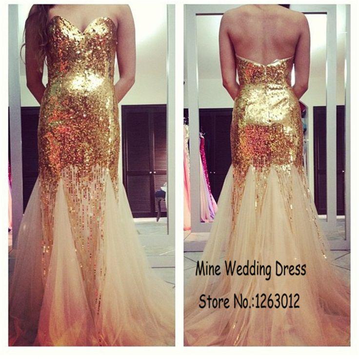 Милая полный блестящий блестками раффлед тюль золотые пром платье русалка Большой размер вечерние платья халат де бал princesse
