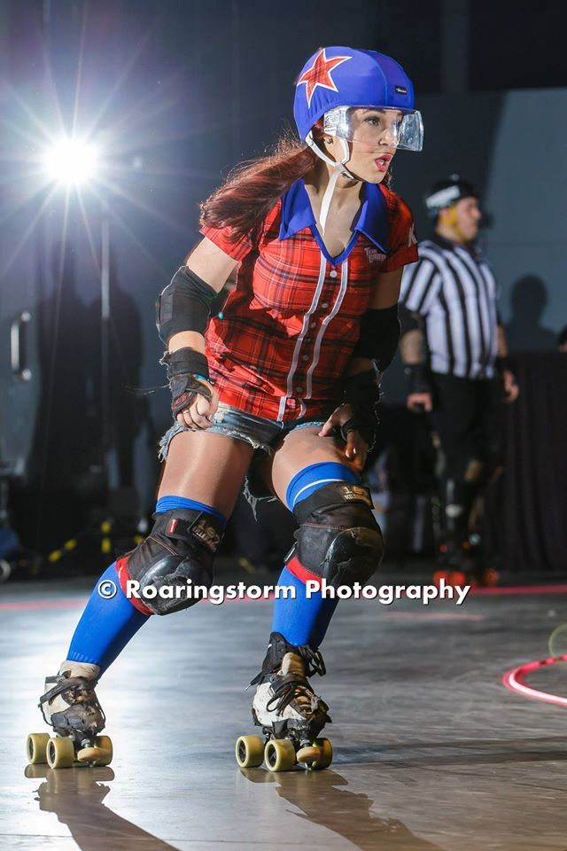 I skate for Team Lumberjack at Sydney Roller Derby League. I skate in a BAUER hockey helmet and with a face shield. Feel free to message me and ask me about it or for any roller derby tips. I deal in lumber in plaid.   Follow Feisty Cuffs at: www.facebook.com/FeistyCuffs www.twitter.com/feistycuffs www.instagram.com/feistycuffs