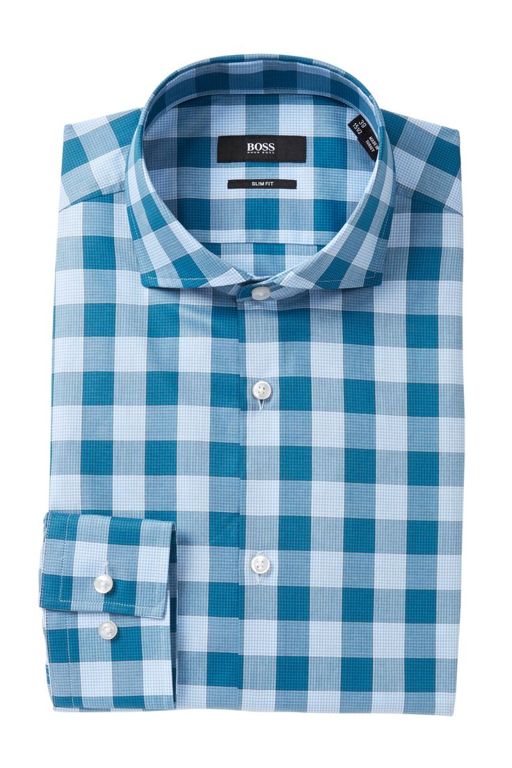 Check Slim Fit Dress Shirt