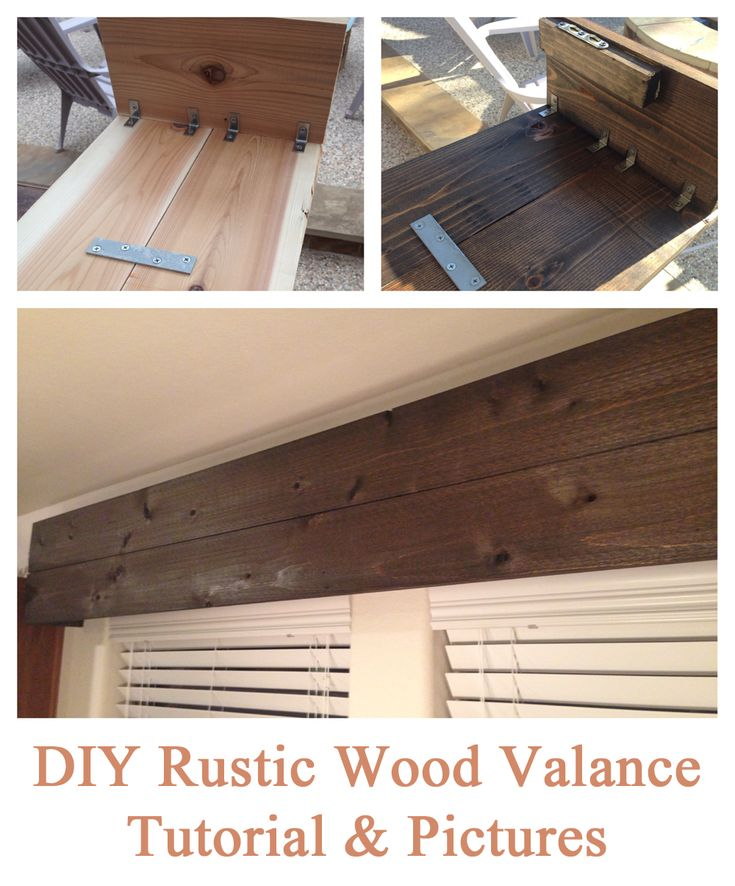 Easy DIY tutorial for creating a rustic wood valance (the end result is light and was simple to make!)