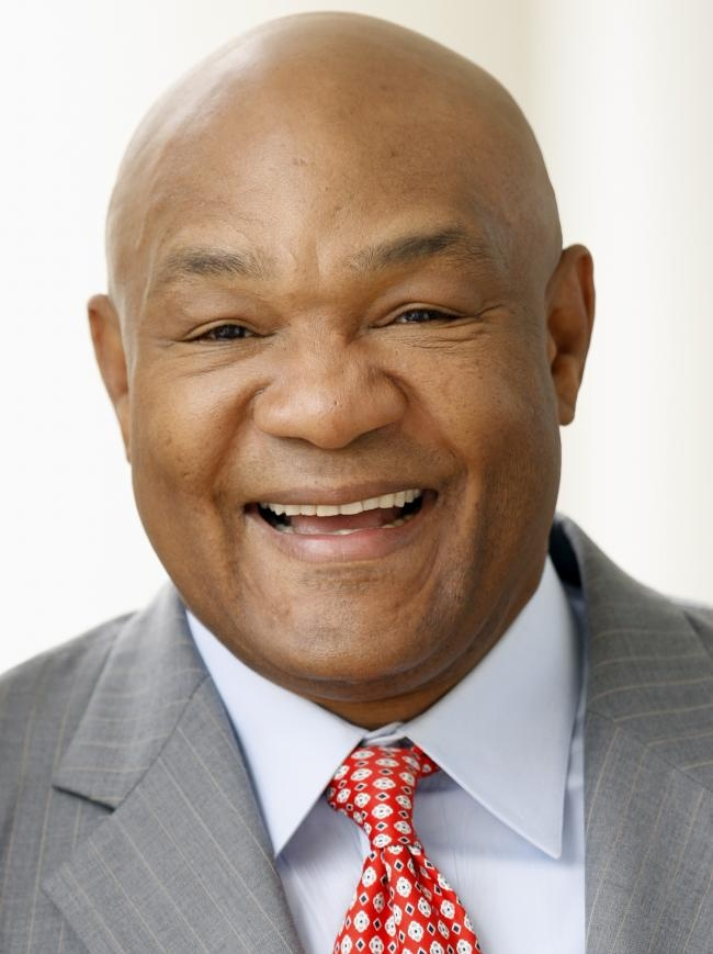 George Foreman, born in 1949 in Marshall, TX, boxer, entrepreneur, minister