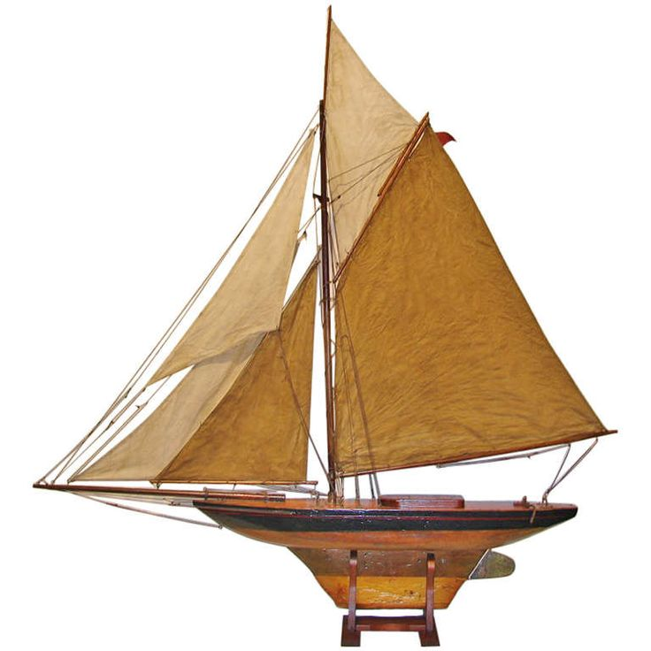 19th c. English Large Pond Yacht | From a unique collection of antique and modern nautical objects at http://www.1stdibs.com/furniture/more-furniture-collectibles/nautical-objects/