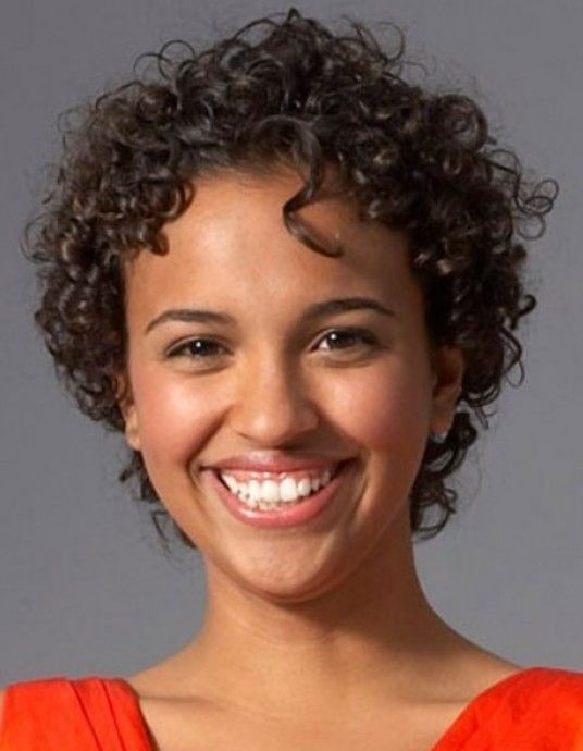 Black Curly Hairstyle Short Hair