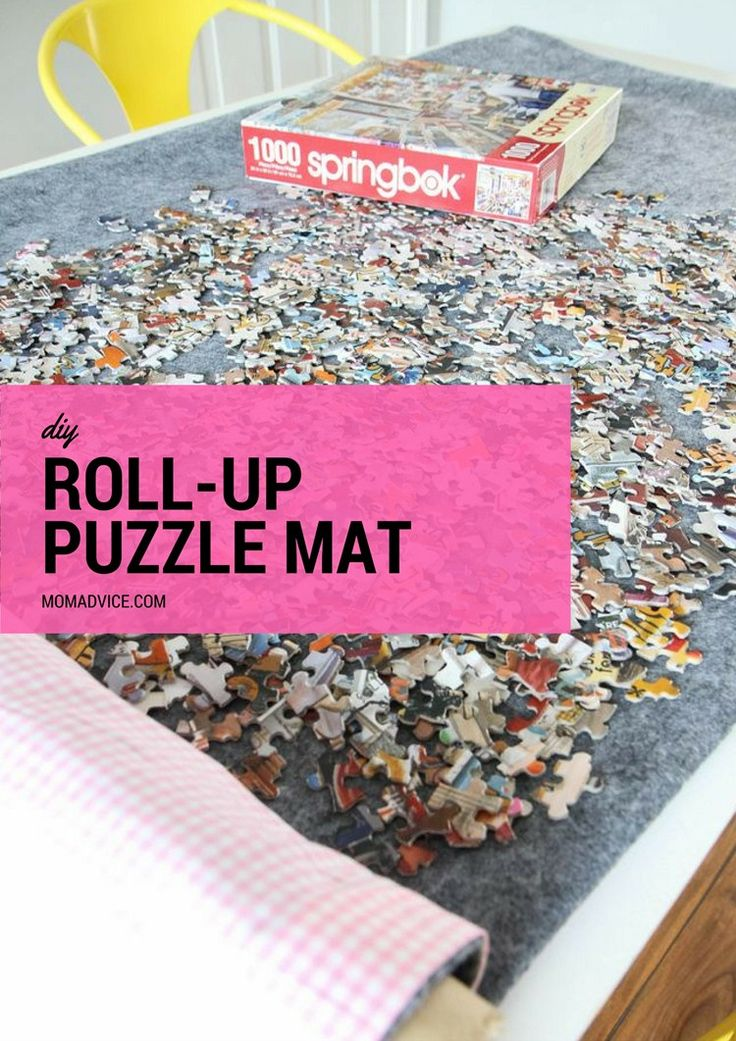 DIY Roll-Up Jigsaw Puzzle Mat from MomAdvice.com made with @Waverly fabrics. #ad