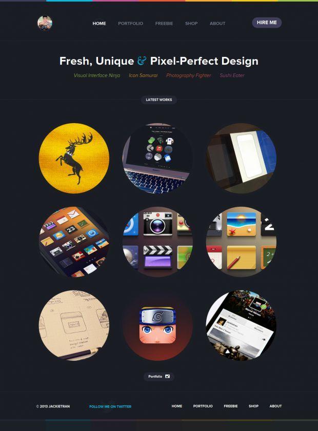 User Interface Designer - JACKIETRAN - Webdesign inspiration www.niceoneilike.com