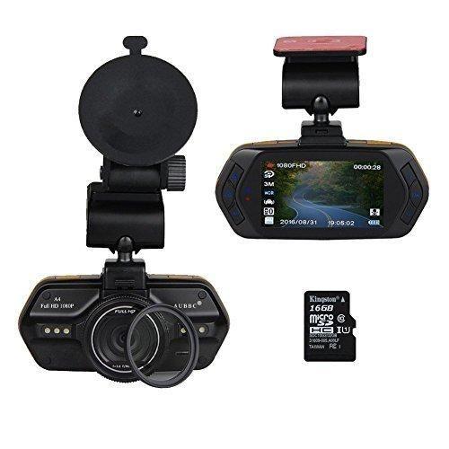 "AUBBC A4 2.7""LCD Full HD 1080P Car Vehicle HD Dash Cam DVR Camera Recorder WDR Night Vision with G-SensorLoop RecordingSupport 16GB Micro SD Card"