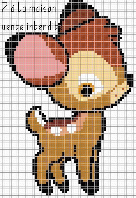 Les 25 meilleures id es de la cat gorie pixel art mignon - Dessin d animaux facile a reproduire ...