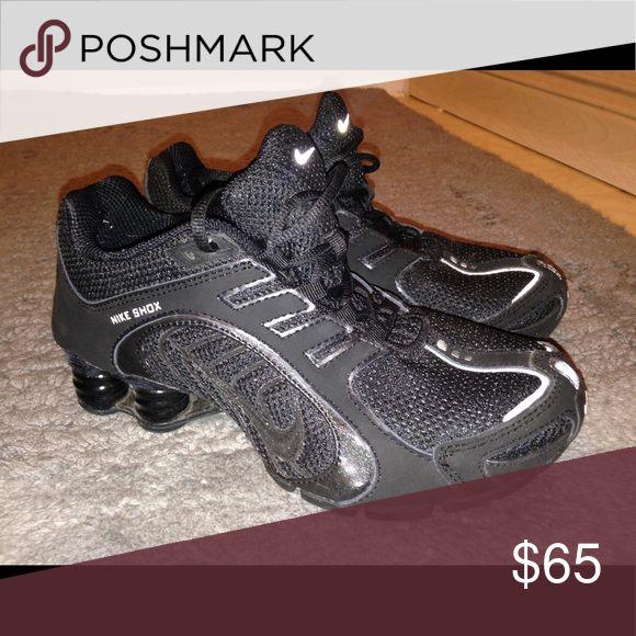 Black Nike Shox-Women's Black Nike Shox- very lightly used (worn <10 times) Nike Shoes Athletic Shoes