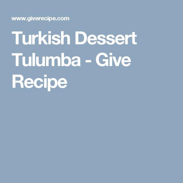 Turkish Dessert Tulumba - Give Recipe