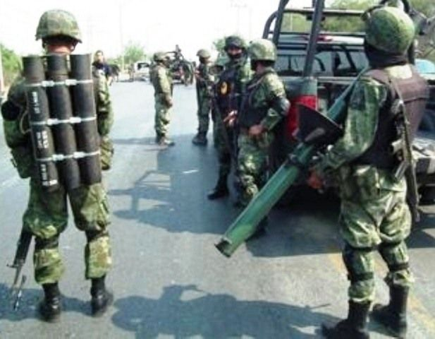 Ejercito Mexicano (Mexican Army) with Blindicide anti-tank rocket